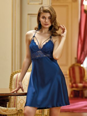 Nurteks Blue Satin Nightgown