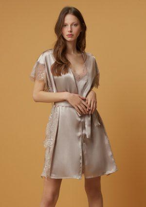PenyeMood Satin Dressing Gown Set