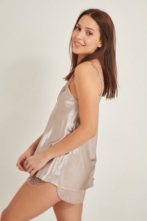 Women Satin Short Nightgown