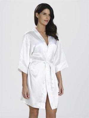Loya White Bride Dressing Gown